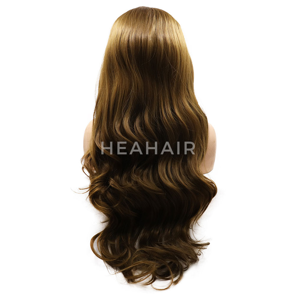 Blonde Wavy Synthetic Lace Front Wigs HS7063