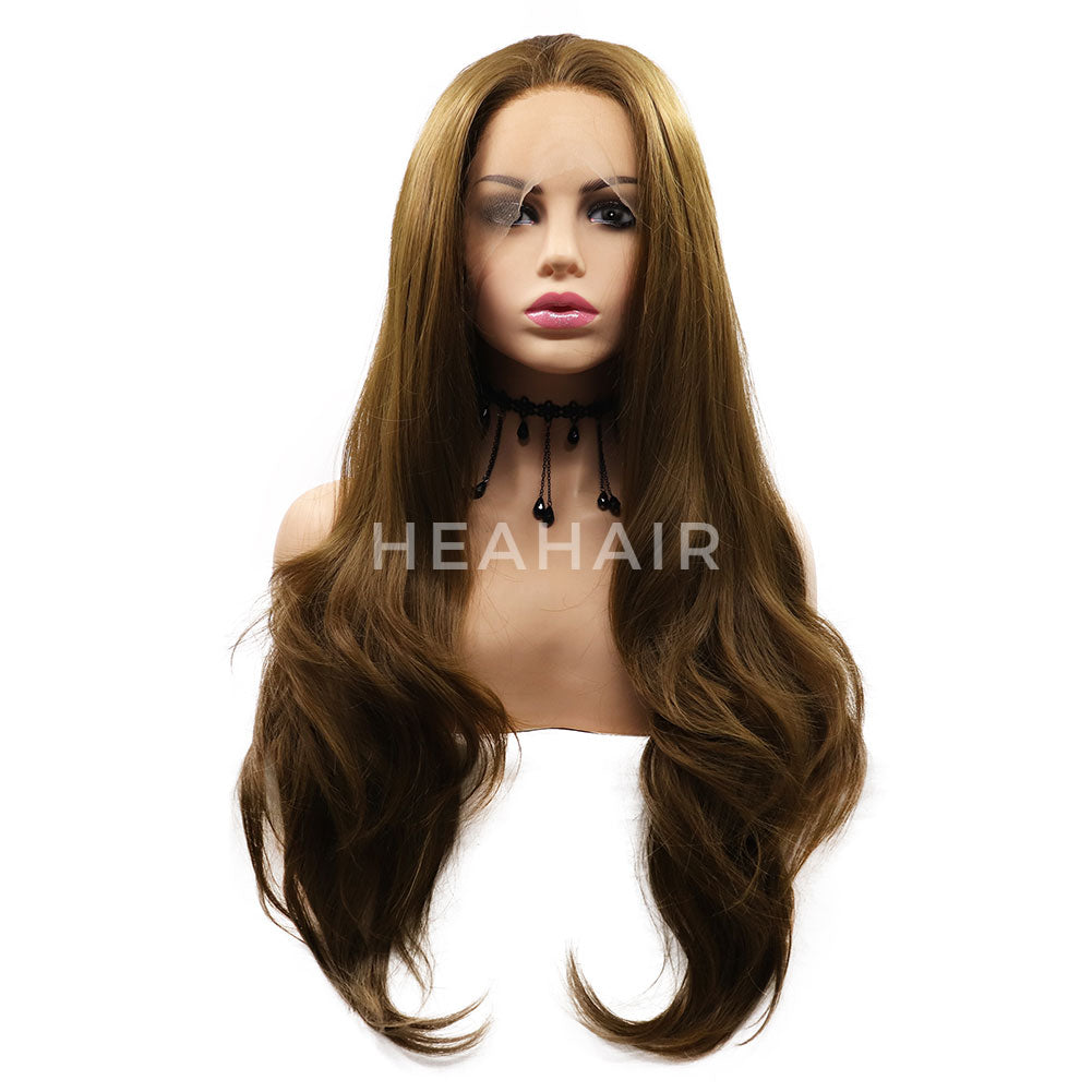 Blonde Wavy Synthetic Lace Front Wigs HS7064
