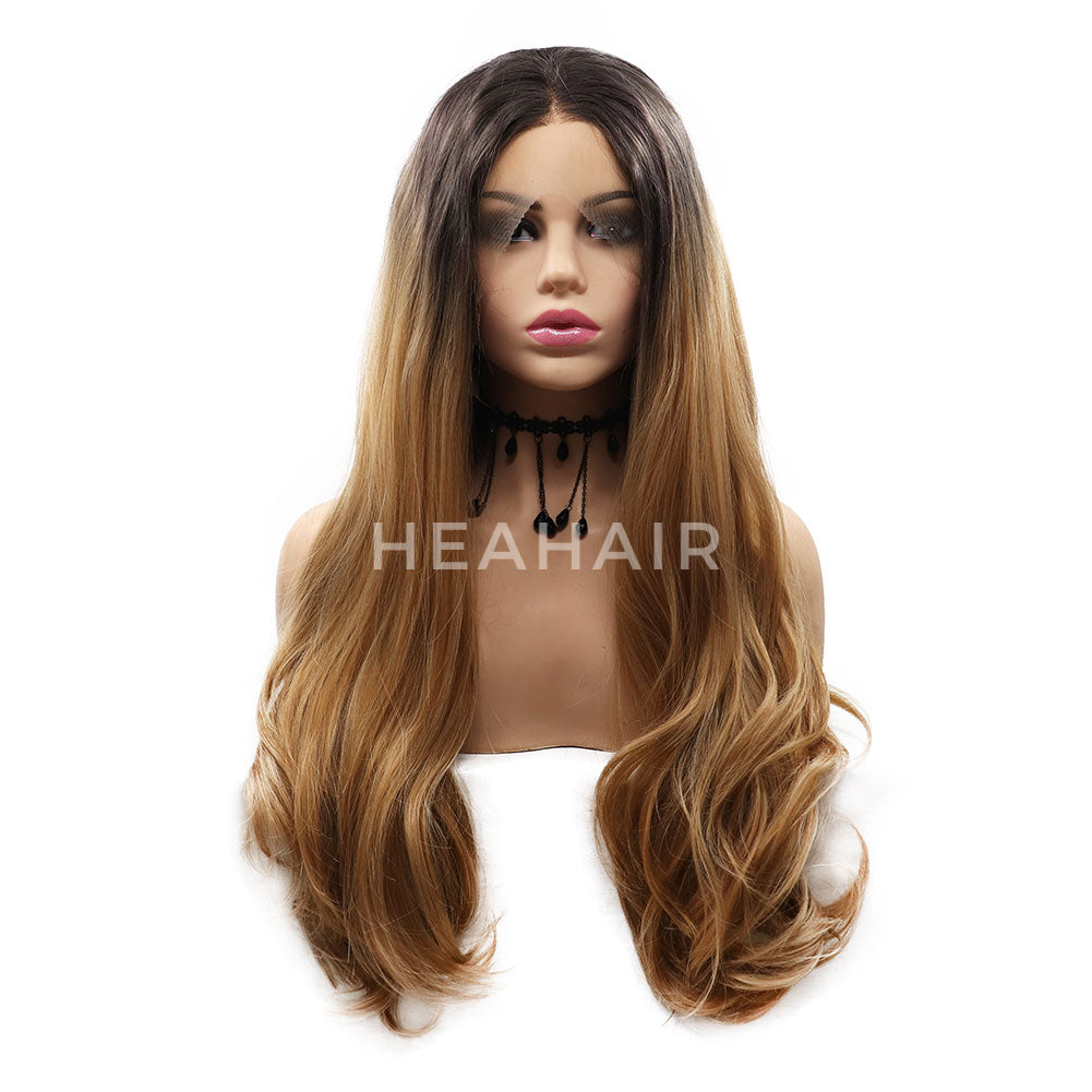 Omber Brown Synthetic Lace Front Wigs HS7068