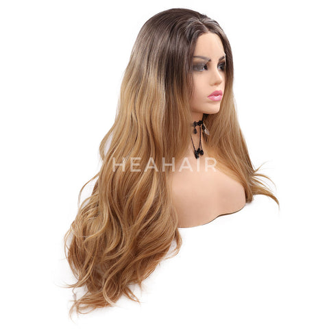 Omber Brown Synthetic Lace Front Wigs HS7069
