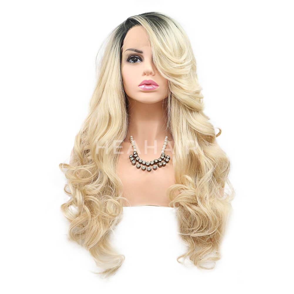 Ombre Blonde Synthetic Lace Front Wig HS7110
