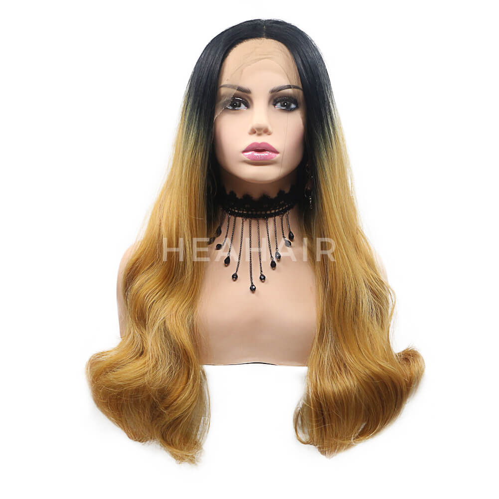 Ombre Brown Synthetic Lace Front Wig HS7114