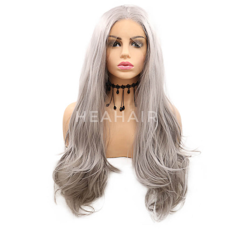 Gray Synthetic Lace Front Wig HS7117