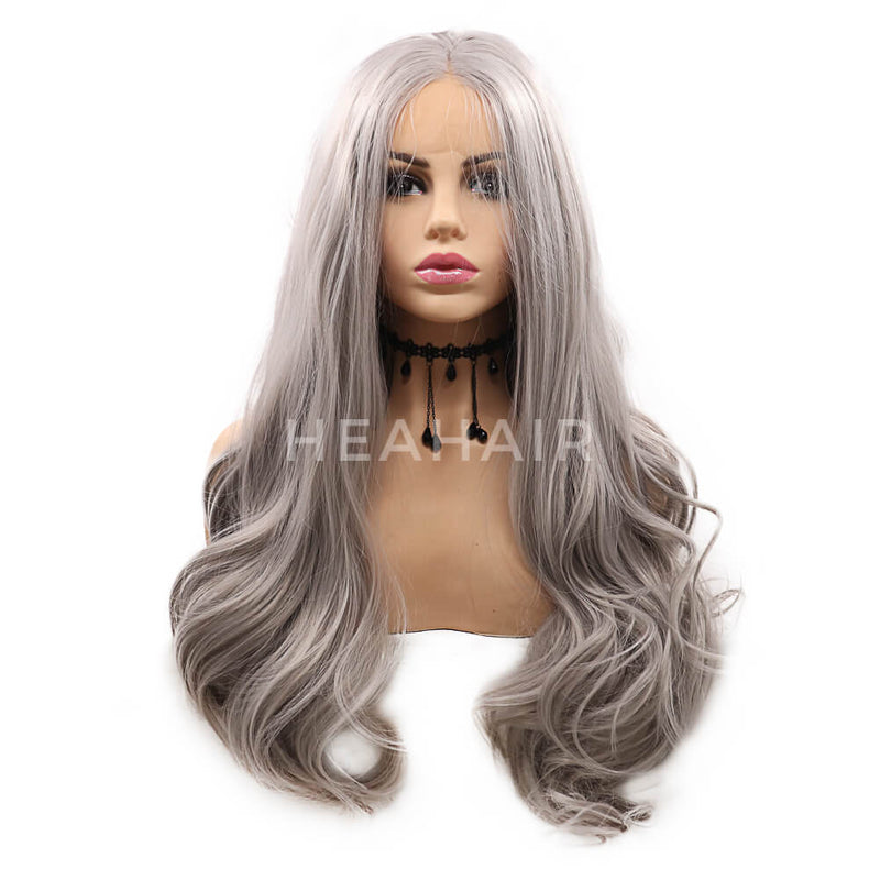 Gray Synthetic Lace Front Wig HS7118