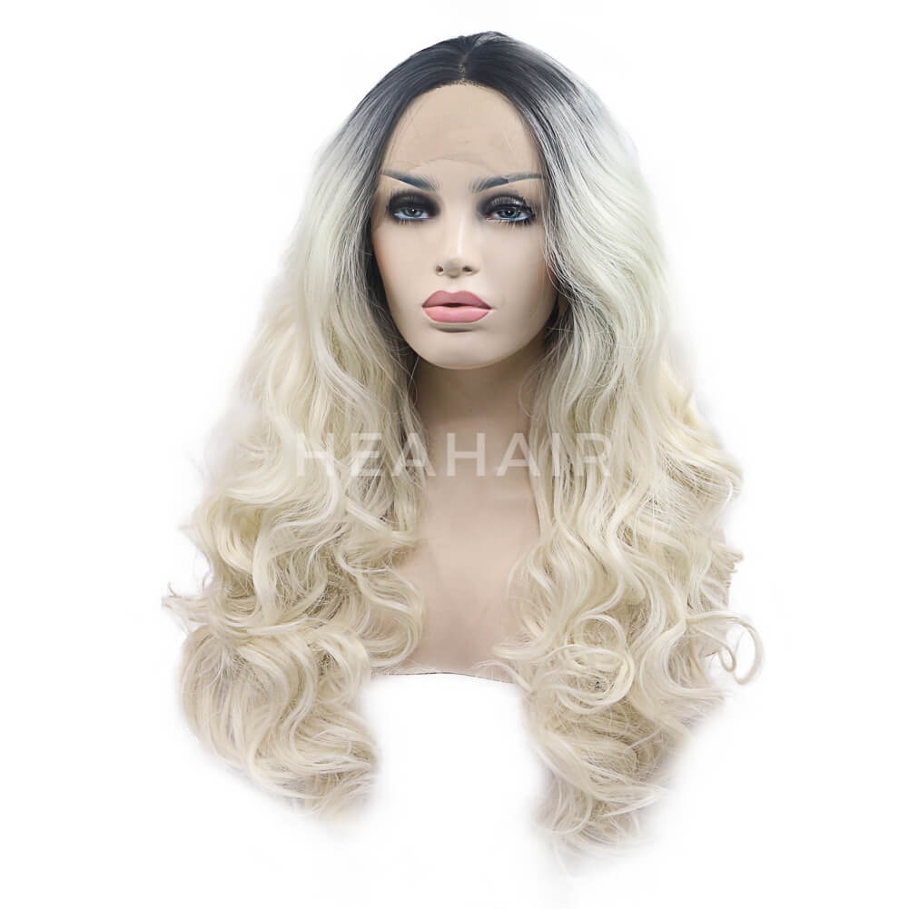 HEAHAIR Ombre Blonde Synthetic Lace Front Wig HS7121