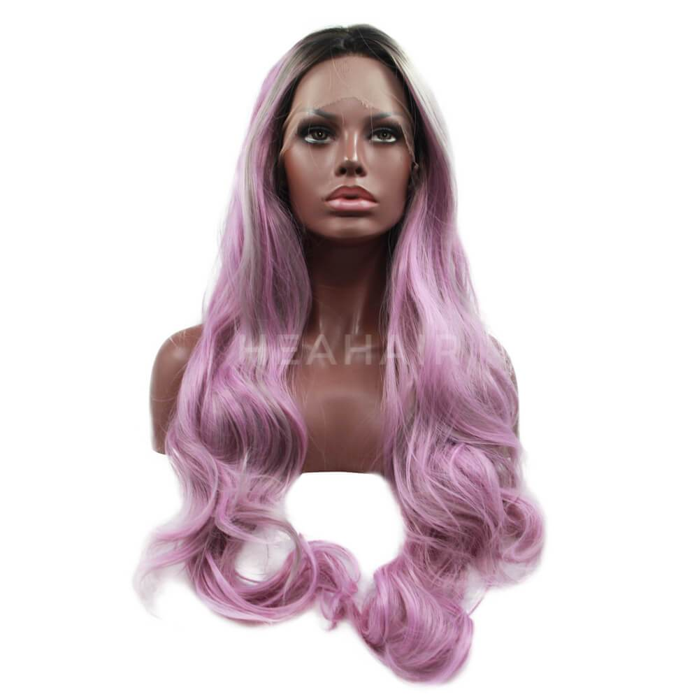 HEAHAIR Multi-Color Ombre Pink Synthetic Lace Front Wigs ML6