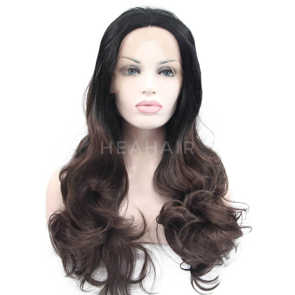 HEAHAIR Ombre Brown Synthetic Lace Front Wigs OL20