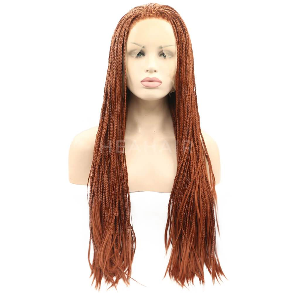 HEAHAIR Brown Braided  Synthetic Lace Front Wigs SL3