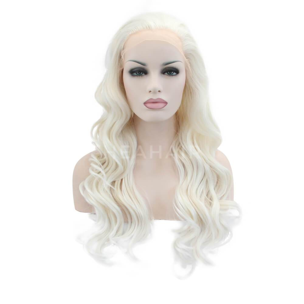HEAHAIR White Blonde Synthetic Lace Front Wigs SL4