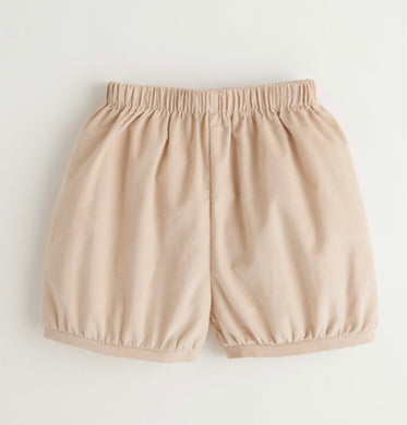 Banded Short, Tan Corduroy