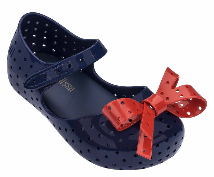 Mini Melissa Navy with Red Bow