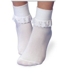White Eyelet Lace Socks