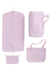 Quilted Luggage-Pink