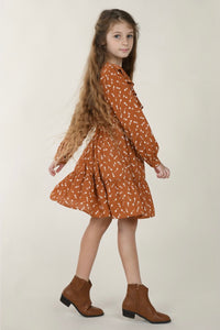 Girls Woven Dress Holland Rust