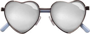 Roxie Heart frame mirrored lenses