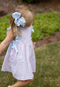 Abigail Dress, Pink and Blue Check