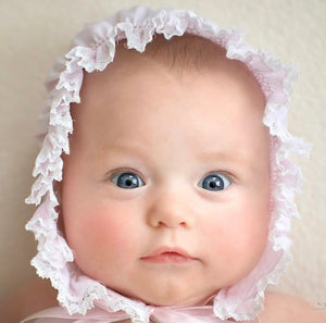 Diamond Smock Lace Bonnet