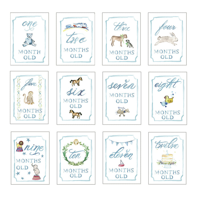 Boy Month by Month Baby Cards