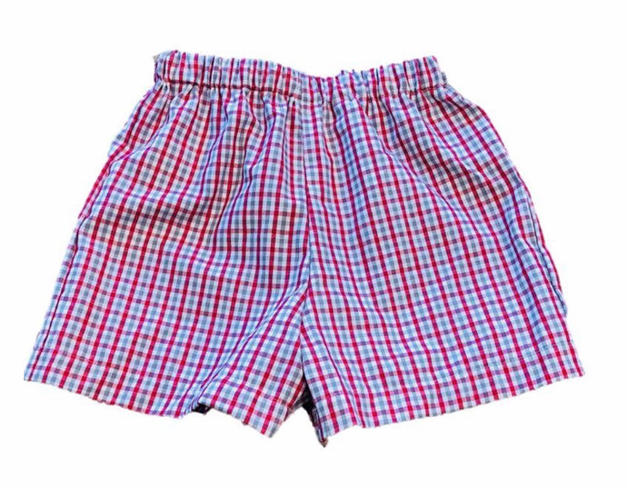 Crimson/gray shorts