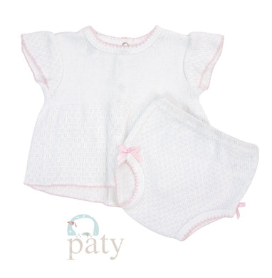 White diaper set