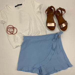Light Blue Skort