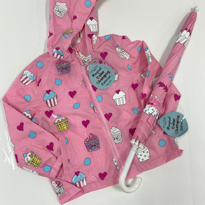Pink Cupcake Packaway Raincoat