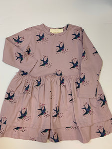 Freya Dress Mauve Bird