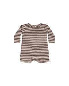 Oat/Black stripe Dash Romper