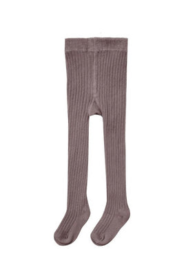 Rib Knit Tights Wine
