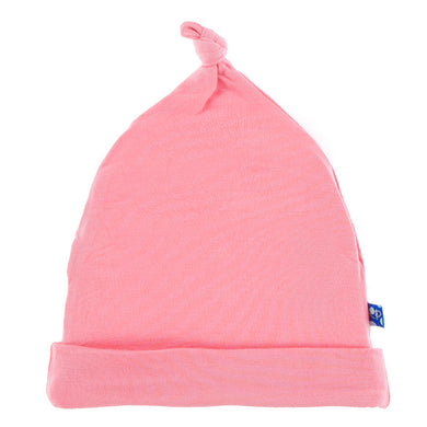 Solid Knot Hat- Strawberry