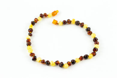 100% CERTIFIED BALTICAMBER Baby Necklace Polished