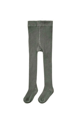 Rib Knit Tights Forest