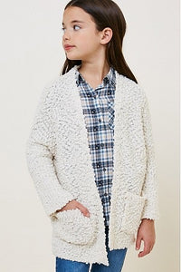 Textured Dolman Sleeve Sweater Cardigan