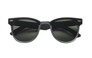 Addison Retro Faux Metal Rubber Sunglasses