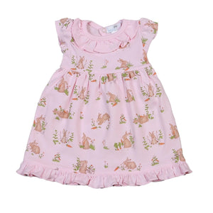 Pink bunnies Pima Doll Nightgown