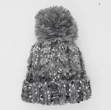 Grey Tweed Mohair Hat
