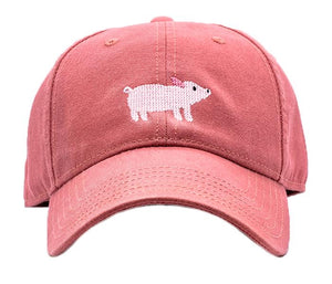 Kids Pig on New England Red Baseball Hat