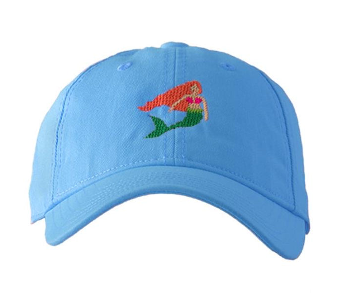 Mermaid on Light Blue Hat