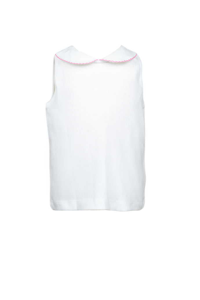 Proper Girl Shirt Sleeveless Pink Trim
