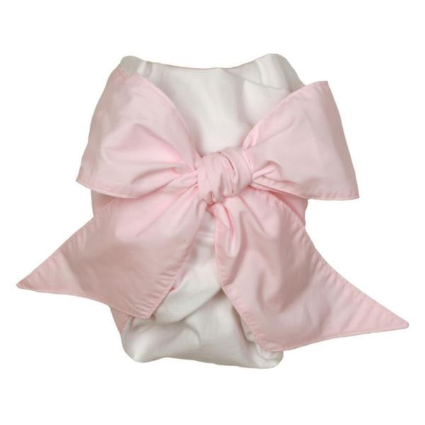 Bow Swaddle in Plantation Pink
