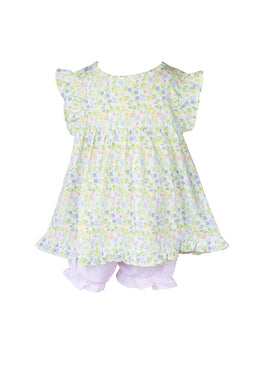 Garden Floral Pima Bloomer Set