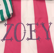 Monogram for Dock and Bay Towel(name or initials)