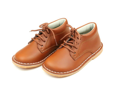 Tuck Lace Up Shoe, Cognac
