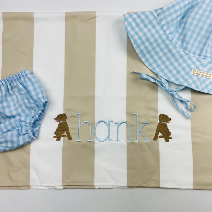 Monogram Dock and Bay Towel(name plus design)
