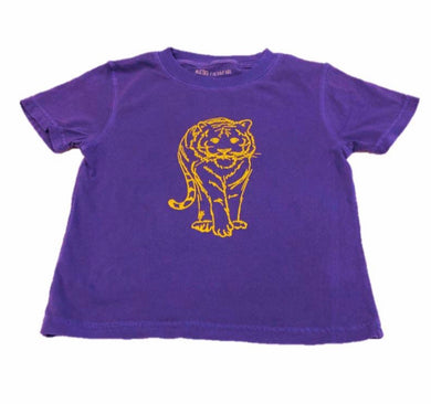 Tiger Tee/Purple and gold