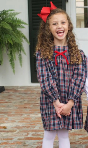Lucy Dress in Christmas Plaid