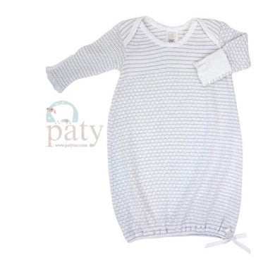 Grey Lap Shoulder Baby Gown