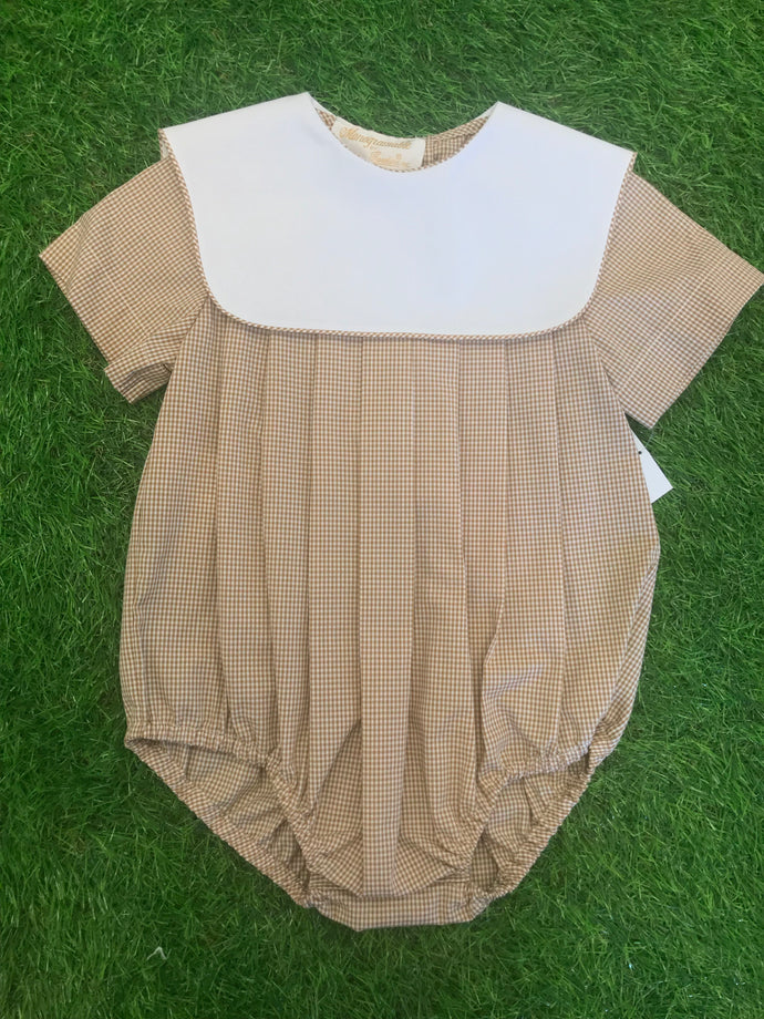 Boy Beige Gingham Bubble