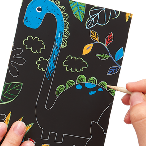 Mini Scratch & Scribble Art Kit: Dino