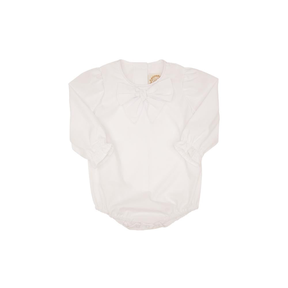 Beatrice Bow Blouse Worth Ave White